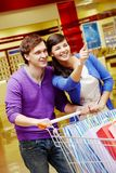 Couple shopping Stock Photo