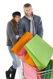 Couple shopping Stock Image