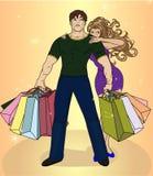 Couple shopping Stock Image