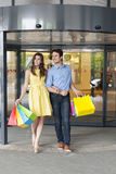 Couple during shopping Royalty Free Stock Images
