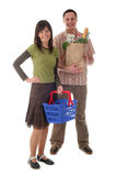 Couple shopping Stock Images