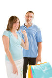 Couple shopping stock photos