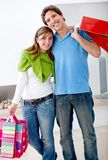 Couple with shopping bags Stock Image