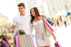 Couple In Shopping Stock Photography