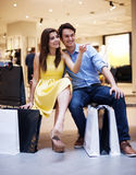 Couple after shopping Royalty Free Stock Image