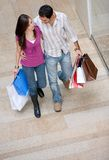 Couple on a shopping centre Stock Photo