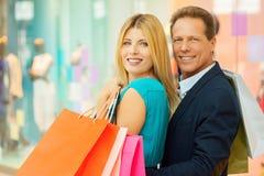 Couple shopping. Stock Images