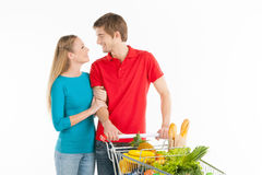 Couple shopping. Stock Image