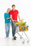 Couple shopping. Royalty Free Stock Photo