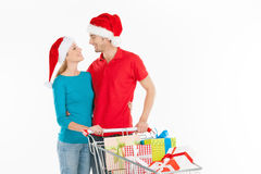 Couple shopping. Royalty Free Stock Images