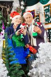 Couple Shopping For Christmas Decorations Stock Photography