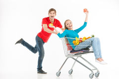 Couple shopping. Royalty Free Stock Photos