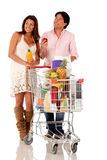 Couple shopping groceries Stock Photography