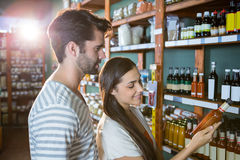 Couple shopping for groceries Stock Photo