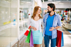 Couple shopping Stock Photography