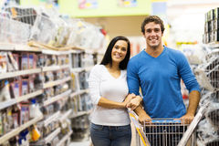 Couple shopping hardware Stock Images