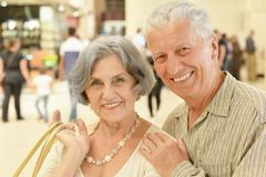 Couple at shopping mall Royalty Free Stock Photo