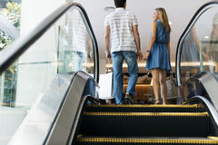 Couple Shopping Malls Love Concept Royalty Free Stock Images