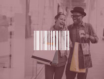 Couple Shopping Outdoors Store Lifestyle Concept Royalty Free Stock Images