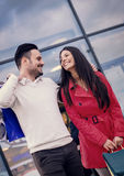 Couple in shopping Stock Image