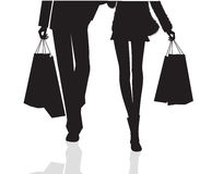 Couple Shopping Silhouette Royalty Free Stock Photography