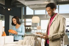 Couple shopping in store. Stock Photography