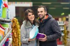 Couple Shopping At The Supermarket Stock Image