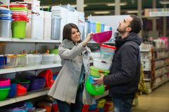 Couple Shopping At The Supermarket Stock Images