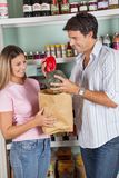Couple Shopping In Supermarket Stock Image