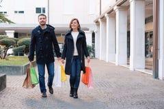 Couple in shopping time Stock Photos