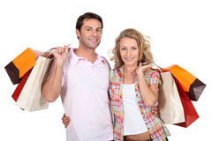 Couple shopping together Royalty Free Stock Photography