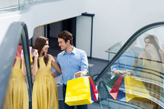 Couple during shopping Royalty Free Stock Photography