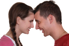 Couple shouting - in delighted surprise Royalty Free Stock Photo