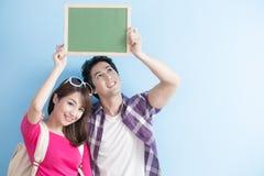 Couple show chalkboard Stock Image