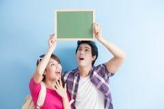 Couple show chalkboard Stock Photo