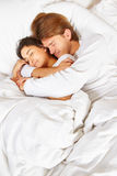Couple showing romance on bed Royalty Free Stock Image