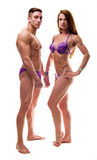 Couple showing their perfect bodies Stock Photo
