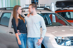 Couple in the showroom Stock Photography