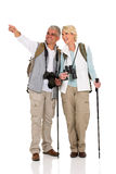 Couple sightseeing pointing direction Stock Photo