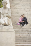 Couple Sightseeing On Steps Stock Photography