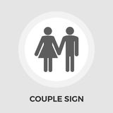 Couple sign Vector Flat Icon Stock Photography