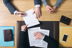 Couple signing marriage documents royalty free stock photo