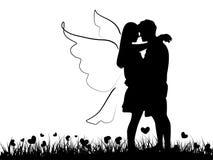 Couple silhouette Stock Photos