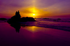 Couple in silhouette Royalty Free Stock Photo