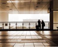 Couple silhouette travel Stock Photo