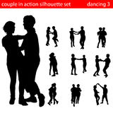 Couple silhouette vector Royalty Free Stock Photography