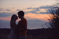 Couple Silhouettes Stock Images