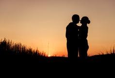 Couple silhouettes Stock Photo