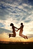 Couple silhouettes Royalty Free Stock Images