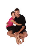 Couple sitting Royalty Free Stock Photography